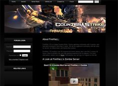 Firewall is a good video game website design example for a smaller ...