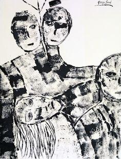 Untitled, ink on shimmed paper, cm 50x70