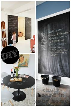 DIY chalkboard in your home