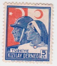 Turkey Red Cross & Nurses Stamp. Simply Stamps, First Day Covers, Small Art, Bronze Age, Red Cross, French Language, Stamp Collecting, Postage Stamps, Asia