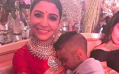 Anushka Sharma and Virat Kohli have a swell time with Shikhar Dhawan's son at their wedding reception - Times of India Top 10 Bollywood Actress, Bollywood Stars, Bollywood Fashion, Hindi Actress, Anushka Sharma And Virat, Virat Kohli And Anushka, Royal Pic, Shikhar Dhawan, Bollywood Masala