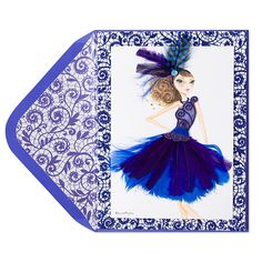 any bella pilar girl cards omg. Couture Bella Pilar Girl in Feather Dress Price $16.95