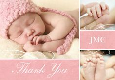 Mixbook Collage with Flourishes Baby Thank You