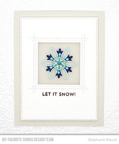 Card Kit: Snowflake Splendor Stamps: Snow Globe Sentiments Die-namics: Square Peek-a-Boo Window, A2 Stitched Rectangle STAX  Stephanie Klauck #mftstamps