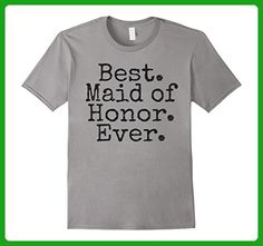 Mens Best Maid of Honor Ever T-Shirt 2XL Slate - Wedding shirts (*Amazon Partner-Link)