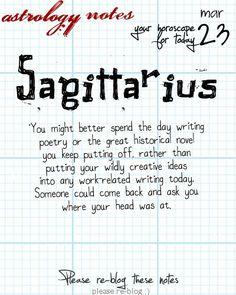 Sagittarius Astrology Note: Hey Sagittarius, follow us for horoscopes every day!