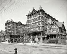 "Atlantic City, New Jersey, circa 1905. ""Grand Atlantic Hotel -- Open All Year."""