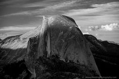 The day's last kiss of light on Half Dome in Yosemite NP 08/2015
