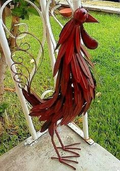 Metal Rooster Yard Art I might have to learn how to weld. Metal Rooster Yard Art I might have to learn how to weld. Metal Projects, Welding Projects, Metal Crafts, Welding Ideas, Metal Sculpture Artists, Steel Sculpture, Metal Sculptures, Metal Yard Art, Metal Tree Wall Art