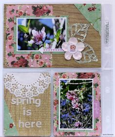 spring is here  - DT Captured Moments for Kaisercraft - Scrapbook.com