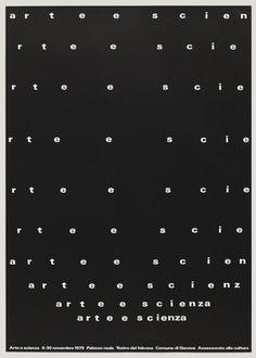 AG Fronzoni - Arte e Scienza, 1979
