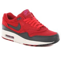 Nike Air Max 1 Shoes - Gym Red-Anthracite