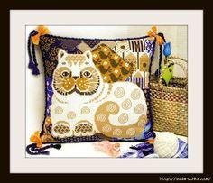 """Подушка """"Белый Кот""""- вышивка крестом.Схема для вышивки.. Обсуждение на LiveInternet - Российский Сервис Онлайн-Дневников"""