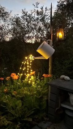 Gorgeous DIY garden lightning