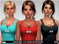 Sims Addictions: Maysims 173 Hair Retexture • Sims 4 Downloads