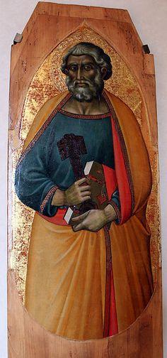 Luca di Tommè - Tre santi dal Polittico di San Paolo - 1374-90  ca. - Villa medicea di Cerreto Guidi