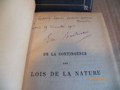 3 Emile Boutroux Philosophy Vols. One Signed Boutroux One Alina Poincare & Obit.
