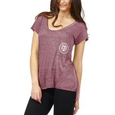 Texas A&M Aggies chicka-d Women's Pocket Scoop Neck T-Shirt - Maroon
