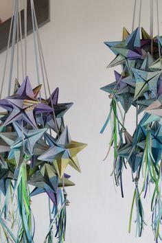 Estrellas de Origami. Bautismo de Camilo