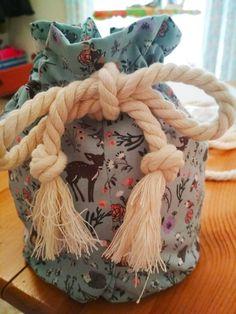 Handmade drawstring small bag
