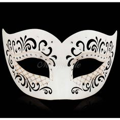 White Leather Masquerade Mask Masquerade Mask Leather Mask Black Mask... ($13) ❤ liked on Polyvore featuring home, home decor, masks, grey, home & living, home décor, ornaments & accents, grey home decor, white home decor and gray home decor