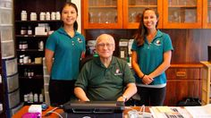 Dr. Char with his two employees, Mariko (left) and Christina (right) in our Holistic Wellness Center in Hawaii.  Official Website: http://drjohnchar.com  Phone Number: (808) 628 0509  Monday - Saturday from 9AM to 5PM.