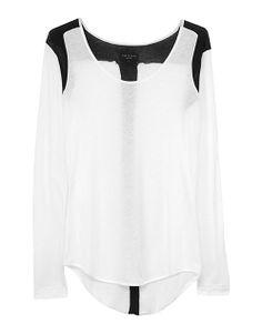 rag & bone Official Store, Baltic L/S Tee - Bright White , bright white fl, Womens : Ready to Wear : Tanks & Tees : Long Sl, W236T456B