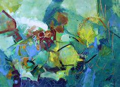 Palisade, 2015  Elizabeth Chapman Acrylic Unique Work Size : 22 x 30 x 0.3 in.