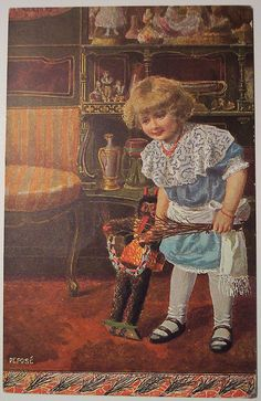 Vintage Christmas Postcard      Krampus by riptheskull, via Flickr