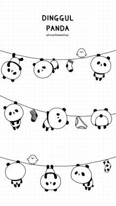 background, super mignon, and panda image Panda Wallpaper Iphone, Cute Panda Wallpaper, Panda Wallpapers, Bear Wallpaper, Cute Disney Wallpaper, Cute Cartoon Wallpapers, Animal Wallpaper, Cute Doodle Art, Doodle Art Designs