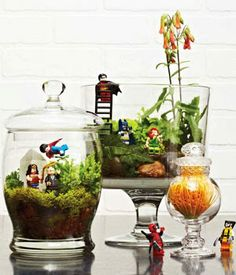 """DIY - Lego Plant Stakes or why """"Everything is Awesome""""! ~ SugarSkull Industries - these would definitely add a little whimsy to plants in the kids' room - RM"""