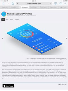 What is your DNA Profile? Find out now! Dnaprofilesapp.com