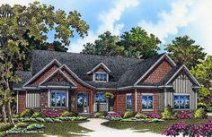 The Wheeler House Plan is now available! #1404. An efficient, open floor plan and roomy service areas highlight this charming Craftsman cottage. http://www.dongardner.com/house-plan/1404/the-wheeler. #NowAvailable #Rustic #Cottage #Small