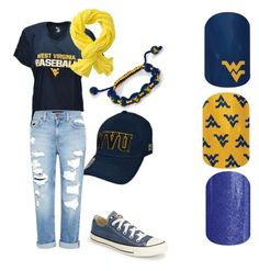 """WVU Mountaineers"" https://jammintothemoon.jamberry.com/product/west-virginia-university#.VgkXVef3anM"