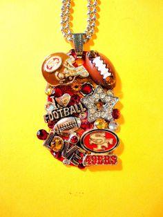 San Francisco 49ers Dog Tag Pendant Number 877 by BradosBling, $39.99