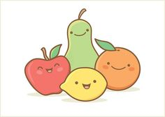 Fruit Note Card by Jerrod Maruyama, via Flickr #Kawaii #Draw #Illustration