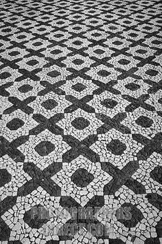 Portuguese Paving Art Print by Gaspar Avila - Töpferei Designs Portuguese Culture, Portuguese Tiles, Tile Patterns, Textures Patterns, Paver Designs, Paving Pattern, Paving Design, Mosaic Diy, Paving Stones