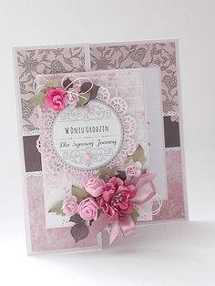 scrapki mbabki: Na Urodziny dla Synowej Pink Cards, 3d Cards, Pop Up Cards, Birthday Cards For Women, Handmade Birthday Cards, Happy Birthday Cards, Fancy Fold Cards, Folded Cards, Wedding Scrapbook