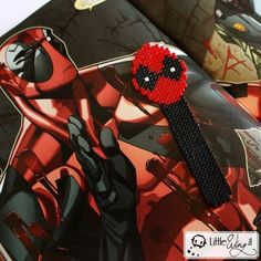 Deadpool - segnalibro Pixel #craft #bookmark #art #book #books #comics #marvel #nerd #geek