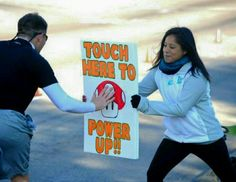 2015 Gusher Marathon- Power Up! All artwork done myself. (That's me in action)!