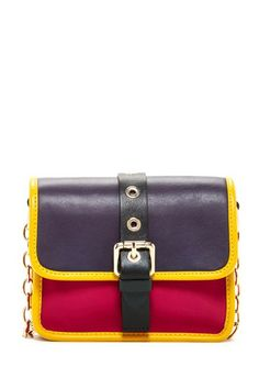 Colorblock Leather Crossbody