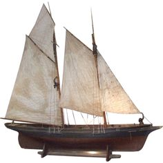 1stdibs | A Wonderful Large-Scale Fully Rigged Sailing Ship Model