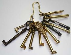 Our selection of keys, or our custom key service, can fix or create skeleton key locks for your antique pieces.