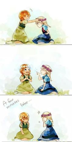 Elsa and Anna flower crown