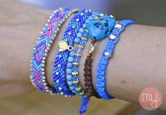 I wear my own! DIY Blog: DIY Arm-Party! Bunter Armbänder Mix - Teil 2: Perl...