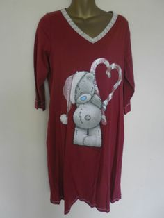 B.NEW LADIES M&S ME TO YOU TATTY TEDDY NIGHTSHIRT SIZES 8-10 12-14,16-18 20-22