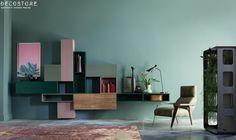 Decostore by Zorzos Co Santorini, Modern Decor, Modern Design, Tv Furniture, Tv Unit Design, Hotel Interiors, Modern Luxury, Armchair, Shelves