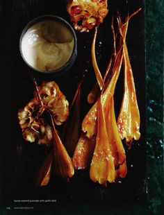 Honey-roasted Parsnips with Garlic Aioli - Chris Court for Donna Hay (June/July 2011)