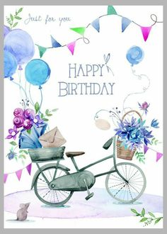 Happy Birthday 1, Happy Birthday Wishes Cards, Happy Birthday Beautiful, Birthday Blessings, Birthday Posts, Vintage Birthday Cards, Bday Cards, Happy Birthday Images, Birthday Pictures