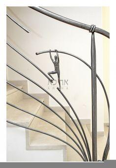 גלריית מעקות ברזל מעוצבים - צפו בדוגמאות של מעקות ברזל   אריכא Staircase Railings, Staircases, Stairs, Home Design Decor, House Design, Pooja Room Door Design, Farm Gate, Pooja Rooms, Backyard Fences
